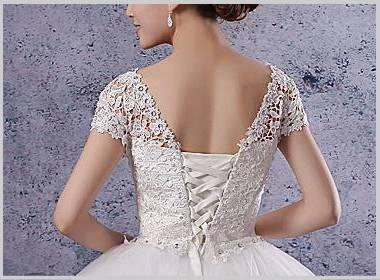ウエディングドレスの袖