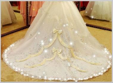 ウエディングドレスのトレイン